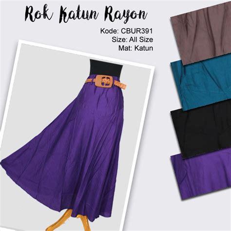 Rok Rayon 3 rok katun rayon warna free belt celana rok muslim murah batikunik