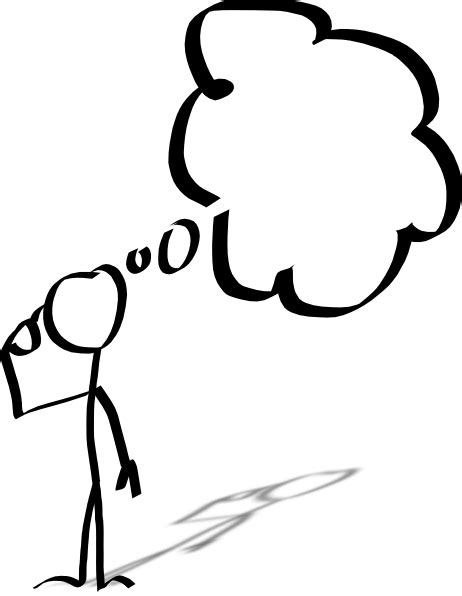 Thinking Outline by Thought Clipart Clipart Suggest