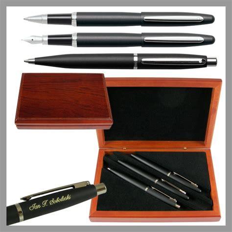 desk pen sets engraved sheaffer vfm black 3 piece executive engraved pen set