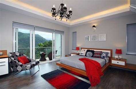 red accents in bedroom polished passion 19 dashing bedrooms in red and gray
