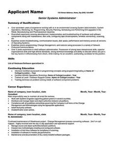 System Administrator Resume Templates by System Administrator Resume System Administrator Resume Includes A Snapshot Of The Skills Both