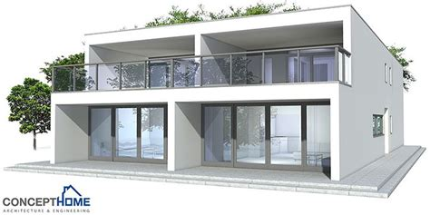Simple Duplex House Plans Contemporary Duplex House To Narrow Lot Three Bedrooms And Two Living Areas Simple Shapes