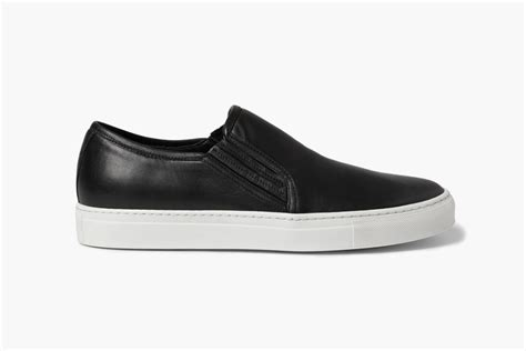 sneakers slip on balmain balmain leather slip on sneakers