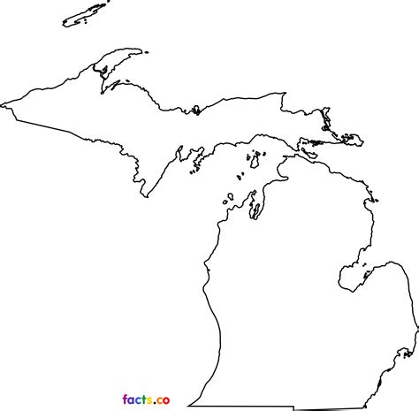 Outline Of Michigan State by Michigan Outline Map Michigan Map