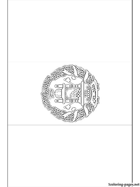 afghanistan s flag coloring page coloring pages