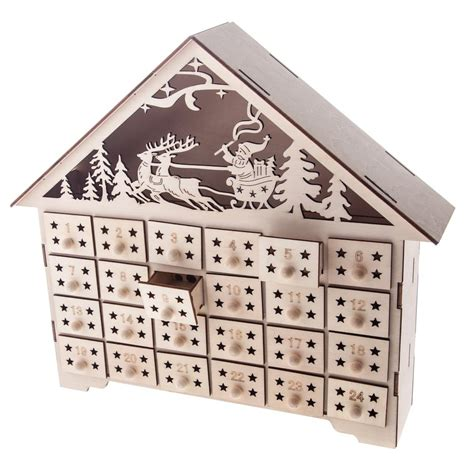 light up wooden advent calendar house calendar template 2016