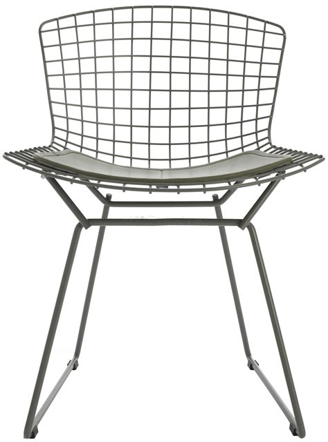Bertoia Style Chair by Harry Bertoia Style Wire Dining Side Chair Coloured