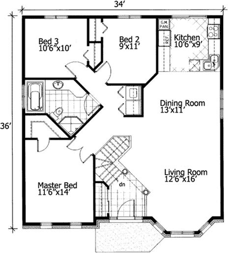 free home designs floor plans barrier free small house plan 90209pd 1st floor master
