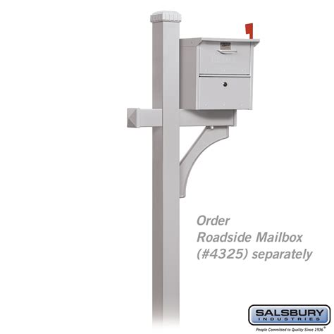 Curbside Appeal deluxe post 1 sided locking mailboxes