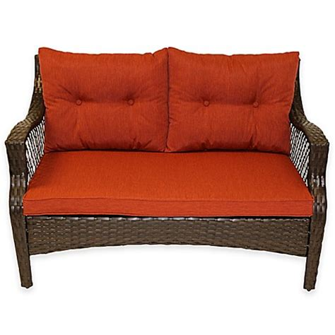 stratford  piece outdoor replacement loveseat cushion set