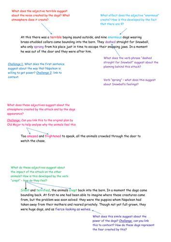 animal farm aqa gcse 0008247137 animal farm aqa 9 1 2017 low ability year 9 analysing chapter 5 snowball s end by beccaenglish