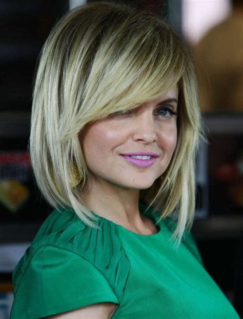 layered hairstyles with side bangs thick hair hairstyles layered bob hairstyle with side swept bangs for medium