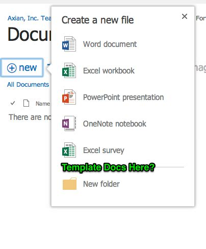 sharepoint 2013 document library template office 365 sharepoint document library create
