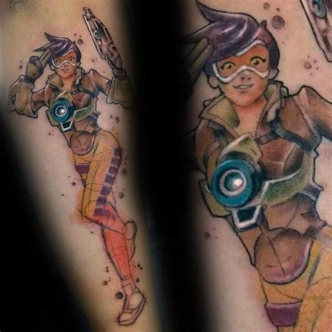 40 overwatch tattoo designs for men video game ink ideas
