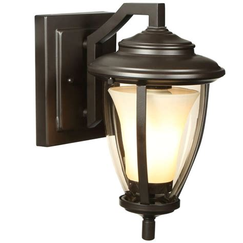 home decorators collection lighting home decorators collection stockholm 1 light satin bronze outdoor wall lantern hb7048a 34 the