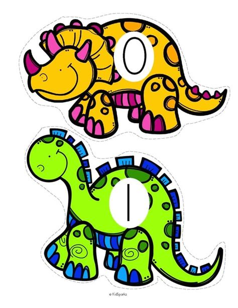 printable dinosaur numbers dinosaurs theme activities and printables for preschool