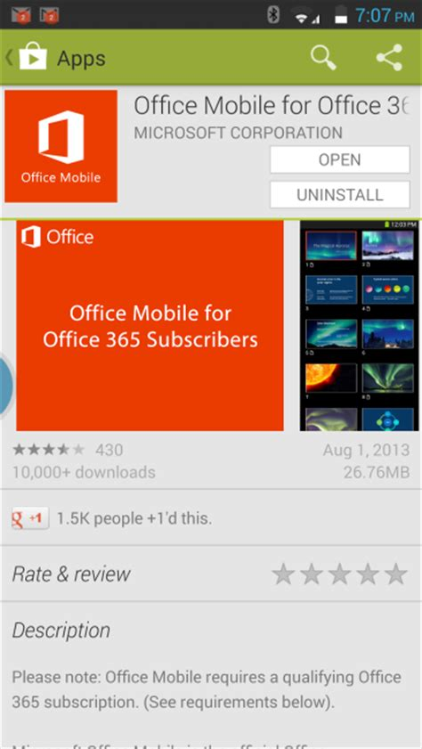 microsoft office 365 for android office 365 for mobile platforms