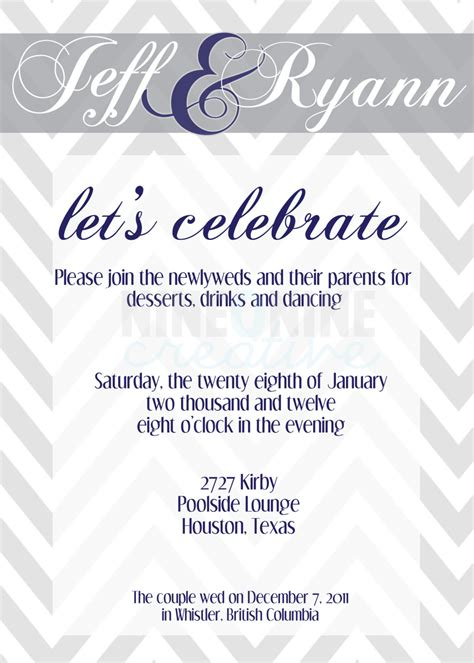 wedding reception invitation by nineoninecreative on etsy