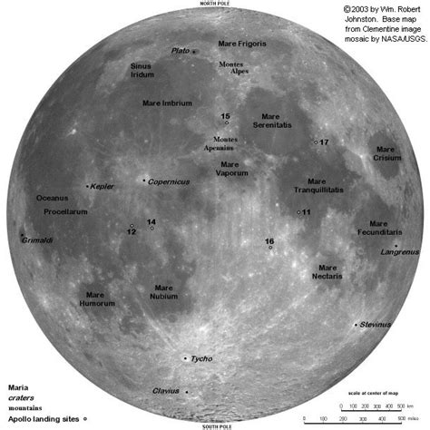 map of the moon map of the moon