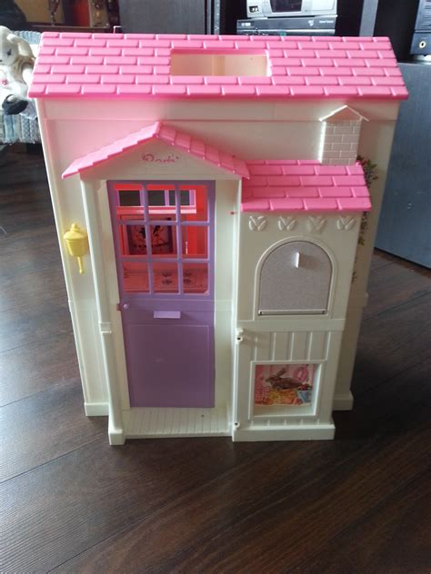 doll house play 1992 vintage barbie fold n play doll house spray painted