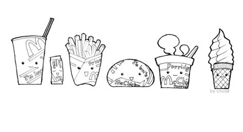 chibi food coloring pages mcdonald food chibi ver by chua8 on deviantart