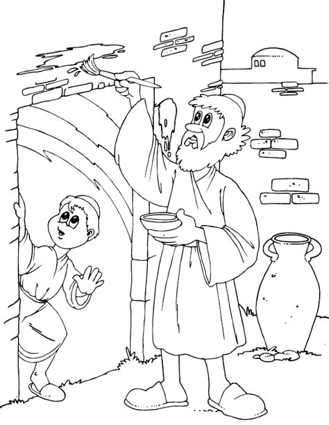 Passover Coloring Pages passover marking door coloring page coloring