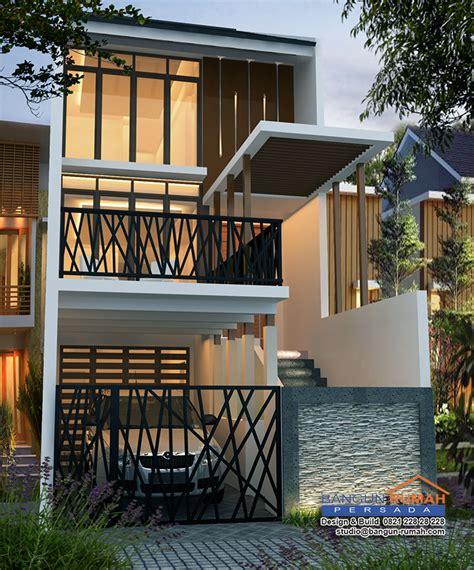 desain rumah minimalis lahan panjang desain rumah 3 lantai di lahan 5 x 20 m2 brp 502