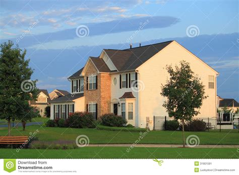 home design for middle class family middle class home stock image image 31901591