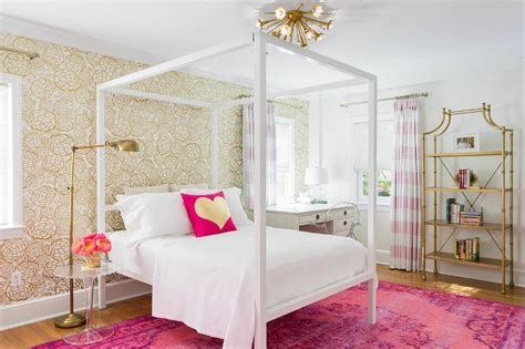 pink and white girl bedroom pink and gold teenage girls bedroom with white canopy bed