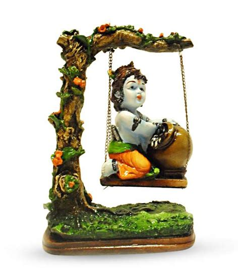 earth home decor earth home decor bal krishna on swing buy earth home decor bal krishna on swing at best price