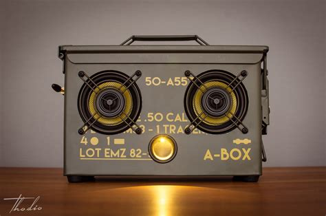 Handmade Audio - the thodio a box best wireless ammo can speaker thodio