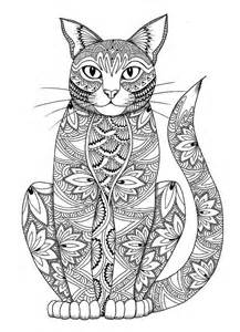 cat coloring pages for adults cat coloring page by miedzykreskami on etsy
