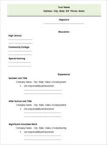 Sample Blank Resume sample of blank resume form