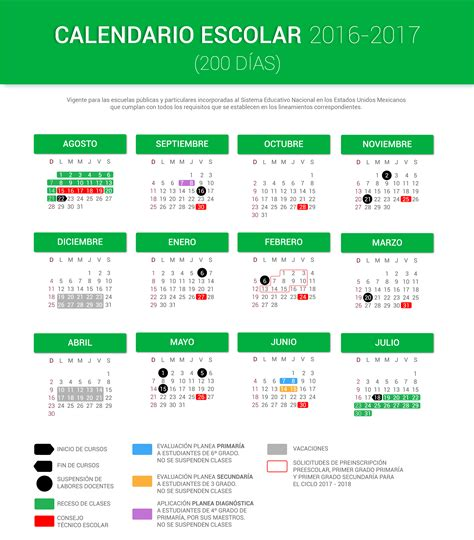 calendario 2016 2017 sep imagen calendario escolar 2016 2017 200 d 237 as portalsej