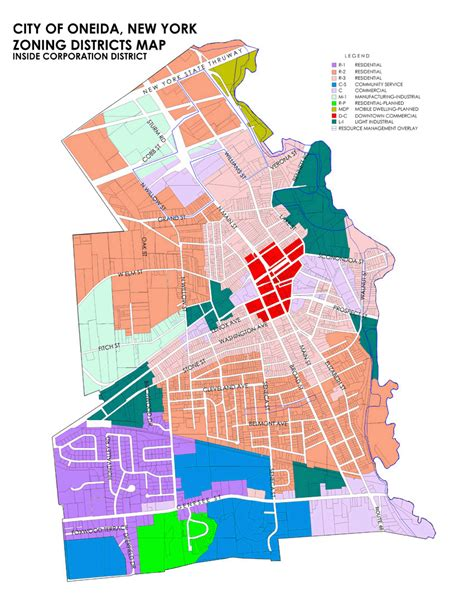 City Of Zoning Search 187 City Of Oneida Zoning Regulations
