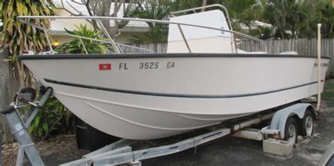 fishing boat hull only center console 22 biddison deep vee fishing boat hull
