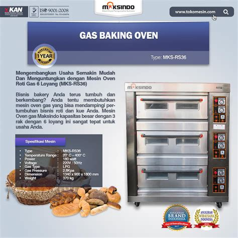 Oven Gas Roda mesin oven roti gas 6 loyang mks rs36 toko mesin