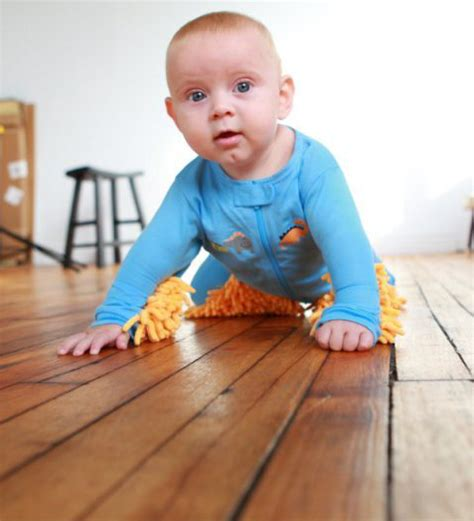 Baby Clean Floor by Baby Mops Footed Pajamas Made So Babies Can Clean Floors