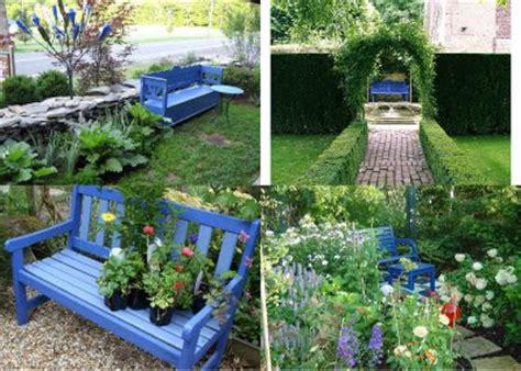 blue garden bench life in sugar hollow the perfect blue garden bench the