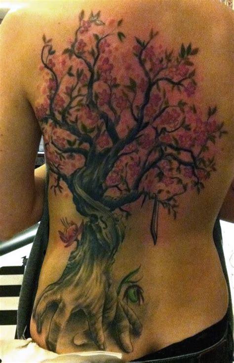 Cherry Blossom Tree Back Tattoos Www Pixshark Com Blossom Tree Back