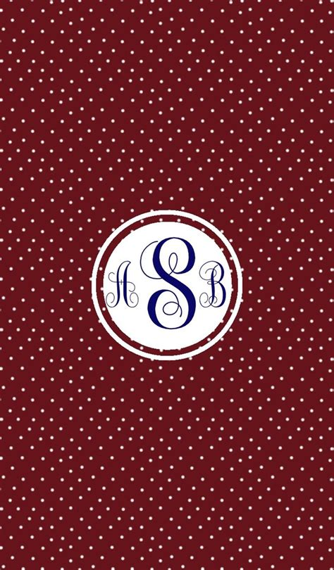 Maroon Dot 2 Year maroon swiss dot monogram wallpaper for iphone