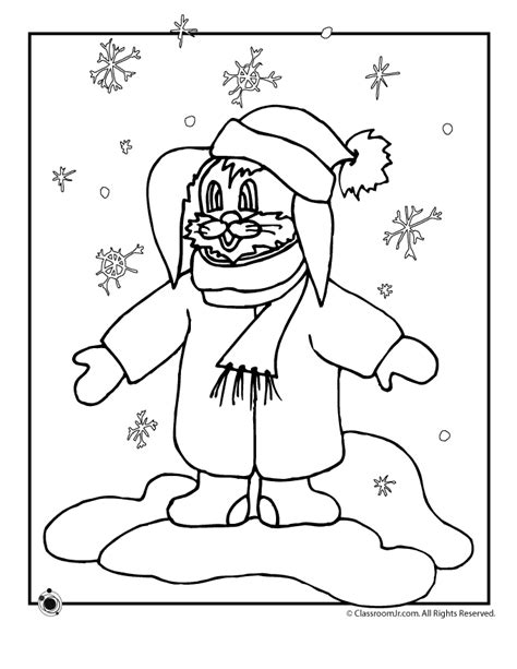 winter rabbit coloring page preschool winter coloring pages az coloring pages