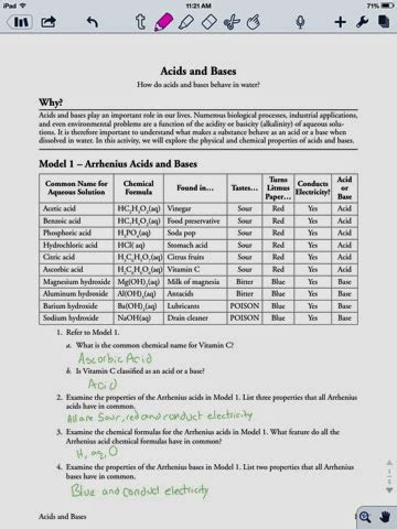 acid and bases worksheet answer key davezan