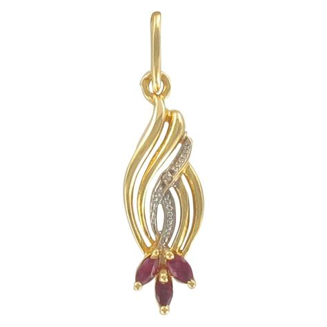 bijoux rubis pendentif pendentif or rubis diamant pendentif vintage bijouxbaume