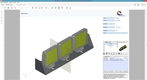 assembly template inventor 2017 3d pdf