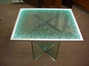 shattered glass edge lit glass dining tables sans soucie