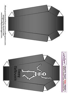 coffin card template coffin shaped box bones on craftsuprint designed by