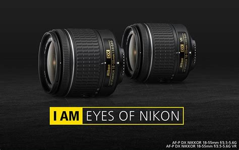 nikon new nikon announces two new af p dx nikkor 18 55mm f 3 5 5 6g