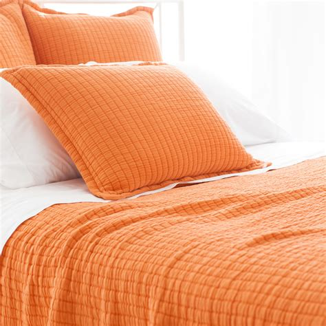 orange coverlets boyfriend orange matelasse coverlet by pine cone hill