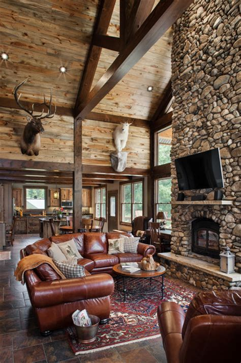 timber frame great rooms rustic timber frame home the rock creek residence great